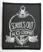 Alice Cooper - 'School's Out Black & White' Woven Patch